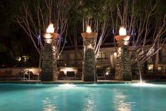 Плавательный бассеин на ноче Стоковое Изображение RF