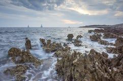 Плавать Адриатическое море Стоковые Изображения