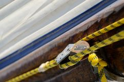 Плавать блоки шкива и веревочки, eqipment спорта Стоковое Изображение