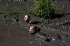 Плавать в грязи Стоковое Изображение
