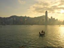 Плавать к острову Гонконга Стоковые Фото