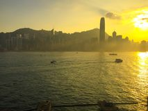 Плавать к острову Гонконга Стоковые Фотографии RF