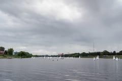 Плавать на реке Стоковые Фото