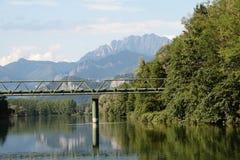 Плавать на реке Adda Стоковые Фотографии RF