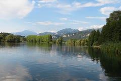 Плавать на реке Adda Стоковые Изображения
