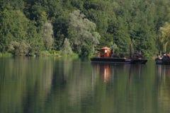 Плавать на реке Adda Стоковое Изображение