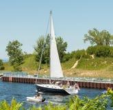 Плавать на Lake Michigan Стоковое Изображение