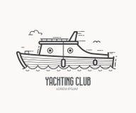 Плавать логотип клуба в тонкой линии дизайне иллюстрация штока