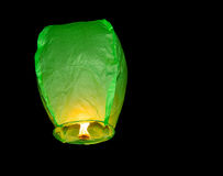 Плавать фонарика зеленой книги Стоковое Изображение RF
