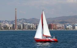 Плавать яхта в Малаге, Испания Стоковое фото RF