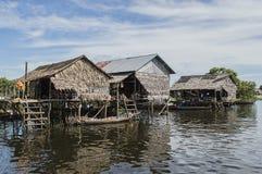 Плавая деревня Камбоджа Стоковое Фото