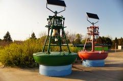 Плавая колоколы с солнечной энергией Стоковые Фотографии RF