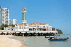Плавая мечеть Tanjung Bungah в Penang Стоковые Изображения