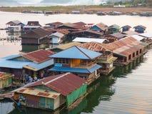 Плавая дом на Sangkha Стоковое Изображение