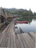 Плавая дом сделанный от древесины Стоковое фото RF
