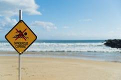 Плавая опасный настоящий знак Стоковое Изображение RF
