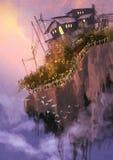 Плавая острова в небе Стоковое Изображение RF