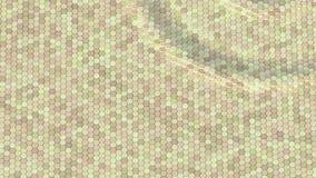 Плавая поверхностное сделанное с шестиугольниками Анимация петли готовая сток-видео