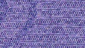 Плавая поверхностное сделанное с шестиугольниками Анимация петли готовая акции видеоматериалы
