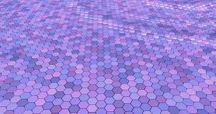 Плавая поверхностное сделанное с шестиугольниками стоковые изображения