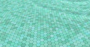 Плавая поверхностное сделанное с шестиугольниками стоковые изображения rf