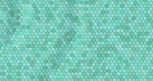 Плавая поверхностное сделанное с шестиугольниками стоковое фото rf