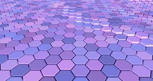 Плавая поверхностное сделанное с шестиугольниками стоковое изображение