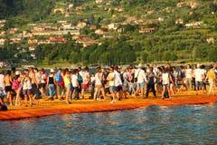 Плавая пристани, озеро Iseo, Италия Стоковые Фото