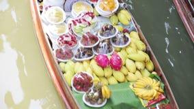 Плавая рынок, Бангкок, Таиланд сток-видео