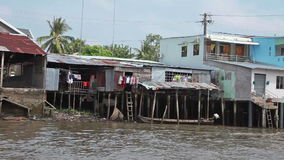 плавая рынок Вьетнам сток-видео