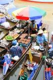 плавая рынок тайский Стоковое фото RF