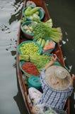 Плавая рынок, Damnoen Saduak, Таиланд Стоковые Изображения