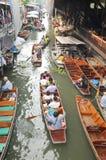 Плавая рынок, Damnoen Saduak, Таиланд Стоковое Фото
