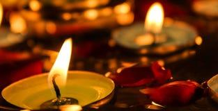 Плавая свечи Стоковое Фото