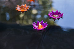 Плавая свечка Стоковое фото RF