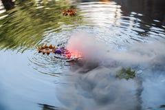 Плавая свечка Стоковое Изображение