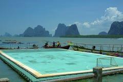 Плавая футбольное поле на острове Panyee Стоковое Фото
