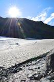 Плавить ледника Portage стоковые фотографии rf