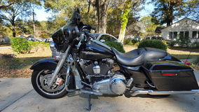 Плавное движение улицы Harley Davidson 09 Стоковые Изображения RF
