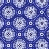 Плавно голубой цветочный узор Стоковые Изображения