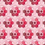 Плавно шестиугольный цветочный узор Стоковые Изображения RF