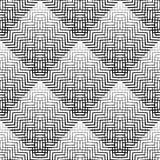 Плавно repeatable геометрическая картина - абстрактный monochrome ба Стоковое Изображение