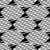 Плавно repeatable геометрическая картина - абстрактный monochrome ба Стоковые Изображения RF