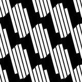 Плавно repeatable геометрическая картина - абстрактный monochrome ба Стоковое Изображение RF
