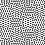 Плавно repeatable геометрическая monochrome картина с distorte Стоковое Фото
