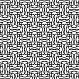 Плавно repeatable геометрическая monochrome картина с distorte Стоковые Фото