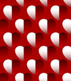Плавно repeatable картина - предпосылка с затеняемым сердцем Стоковые Изображения