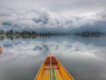 Плавучие дома Кашмира Стоковые Изображения RF