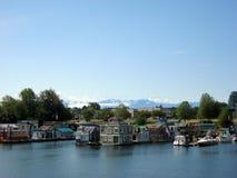 Плавучие дома на гавани Виктории Стоковые Фото