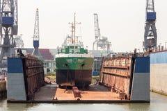 Плавучий док корабля Стоковая Фотография